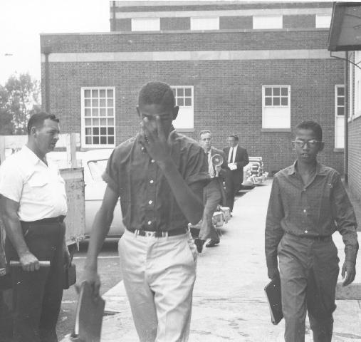 Black students entering Lane High School, Fall, 1959, The Charlottesville Daily Progress
