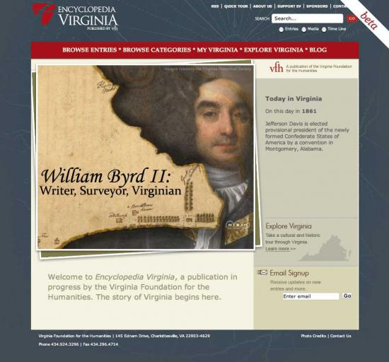 Encyclopedia Virginia Home Page