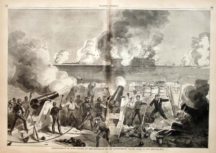 Bombardment of Fort Sumter by Batteries of the Confederate States, April 13, 1861