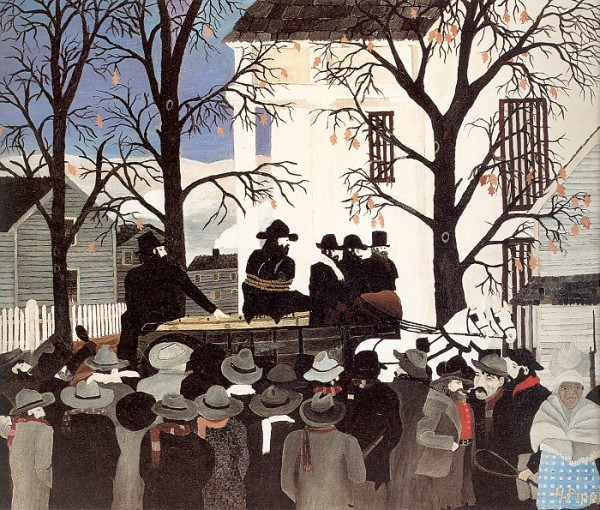 """""""John Brown Going to His Hanging"""" by Horace Pippin (1942)"""