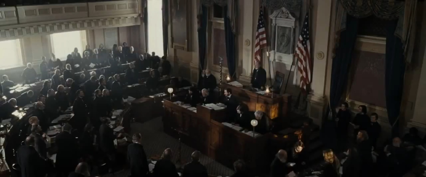 "Screenshot from ""Lincoln,"" directed by Steven Spielberg (2012)"