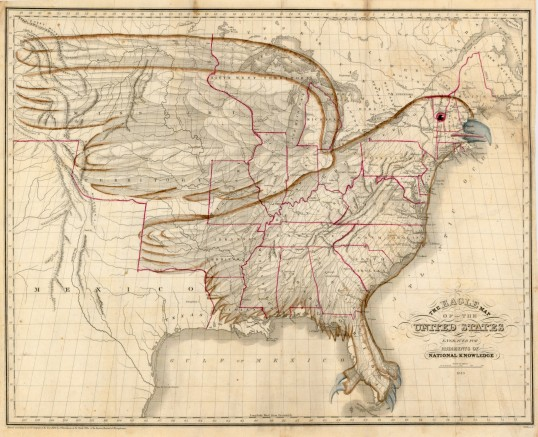 Eagle Map of the United States (1833)
