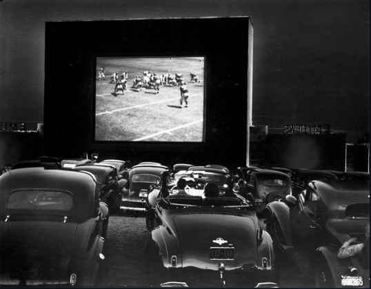 Drive-in theater, Alexandria, Virginia, December 1941 (J. Baylor Roberts, National Geographic)