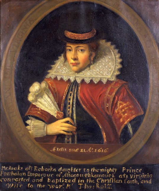 Pocahontas, after 1616 (Virginia Indian Archive)
