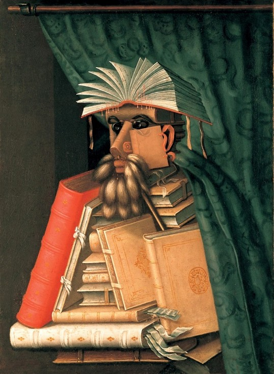 """""""The Librarian"""" (1566) by Giuseppe Arcimboldo (Wikipedia Commons)"""