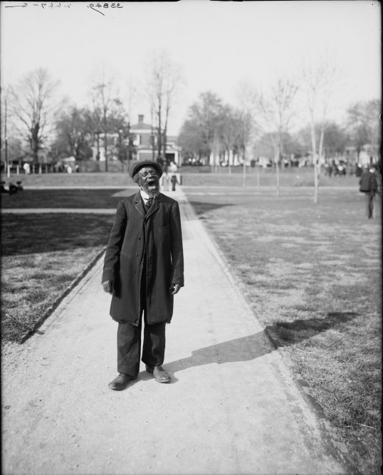 Buzzard Pete at the University of Virginia, 1905 (Detroit Publishing Company/Library of Congress)