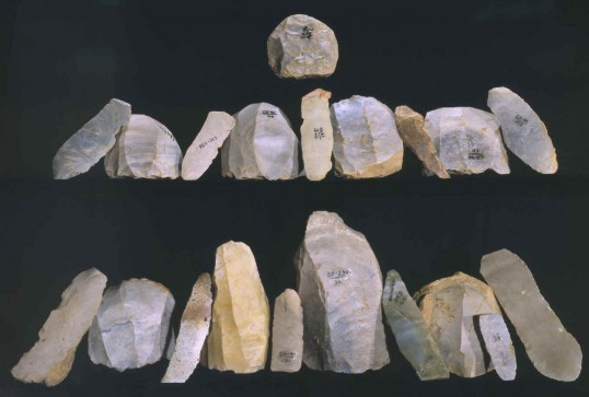 Clovis Artifacts from the Lithic Casting Lab (Virginia Indian Archive)