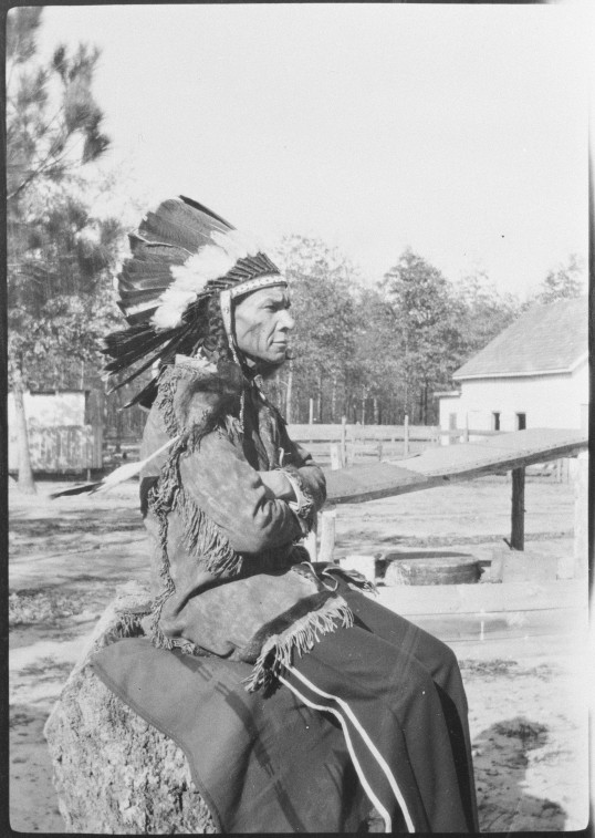 Councilor James Johnson by Frank G. Speck, 1925 (Virginia Indian Archive)