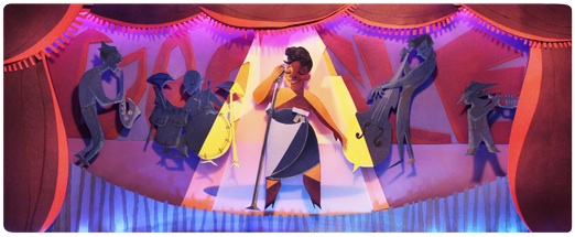 Google Doodle of Ella Fitzgerald (April 25, 2013)