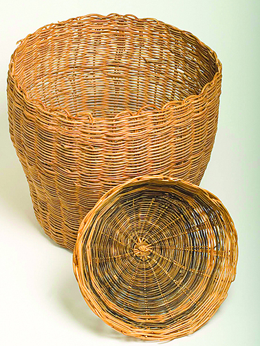 Monacan Baskets by Bertie Branham (Virginia Indian Archive)
