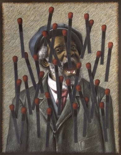 """Buzzard Pete with Matches"" (2011) by William Dean Reynolds"