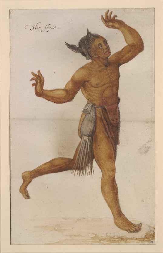 """The flyer"" by John White, ca. 1585 (Virginia Indian Archive)"