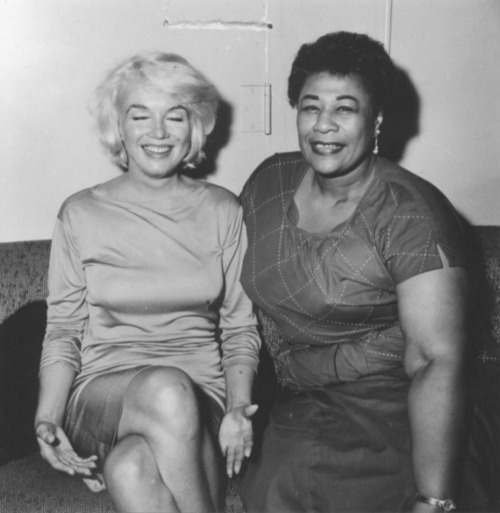 Marilyn Monroe and Ella Fitzgerald at the Macombo, 1961