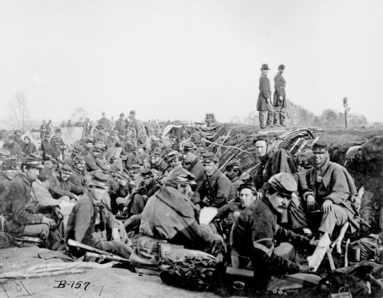 Union soldiers by the  Rappahannock River, April 29 or 30, 1863, by Andrew J. Russell