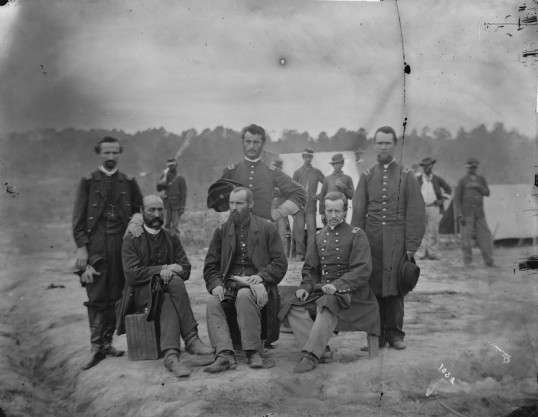 Field and staff officers of the 39th U.S. Colored Infantry, Petersburg, September 1864 (Library of Congress)