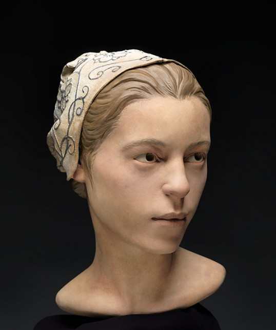 A young girl's features are reconstructed based on forensic evidence gathered at Jamestown (Studio EIS / Don Hurlbert)